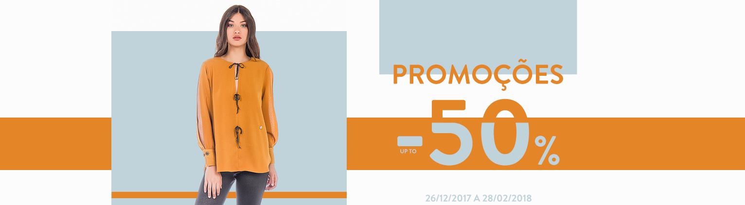 Promoções até -50% de 26/12/2017 a 28/02/2018