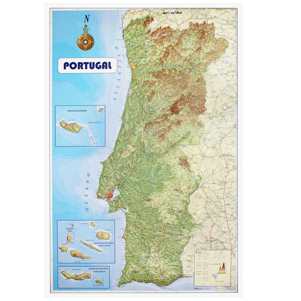mapa de portugal com relevo Portugal Relief Map | Brinquedos, Papelaria, Moda e Acessórios mapa de portugal com relevo