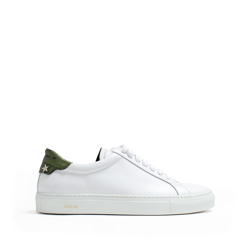 MEN SNEAKERS OSCAR LEATHER WHITE+FLY