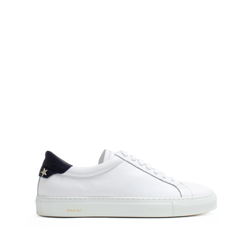 OSCAR LEATHER WHITE+ANI.BLUE