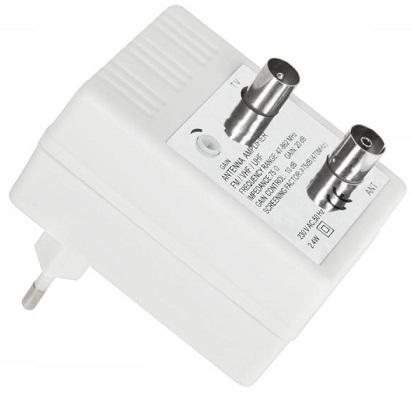Amplificador de antena interior banda larga 20db castro electr nica lda - Amplificador de antena interior ...