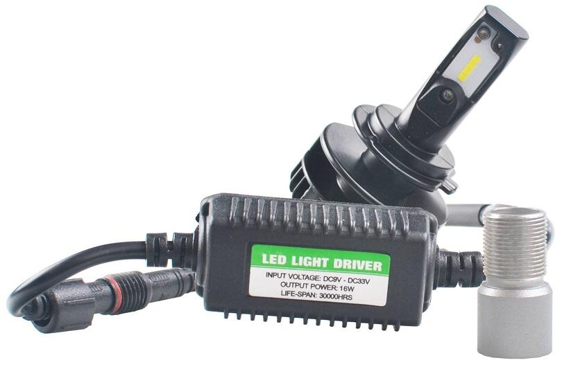 kit 2x lampadas cree led h7 6000k 48w 1800lm (substitui xenon) - m