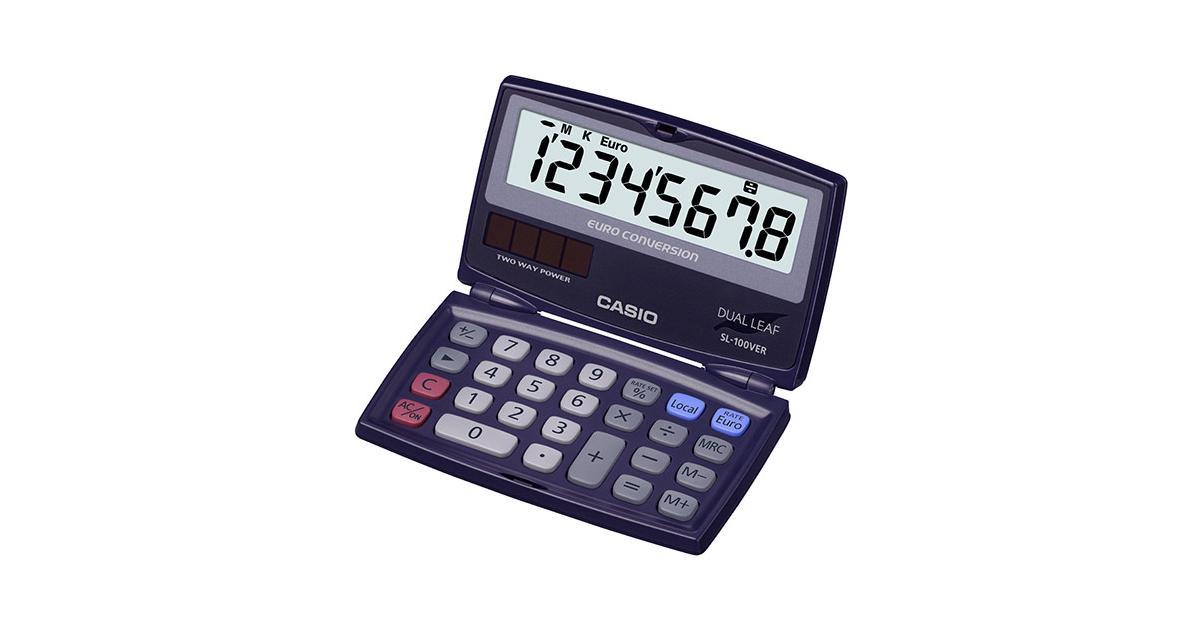 835eea45d39 Calculadora De Bolso Sl 100ver Casio Castro