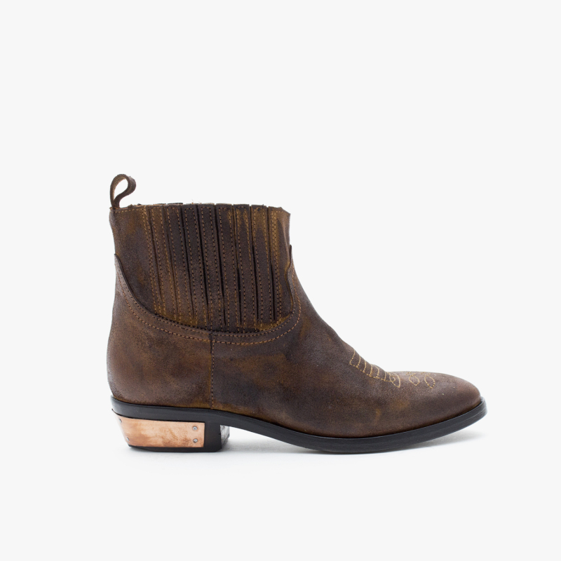 OLSEN SUEDE OIL TABACCO