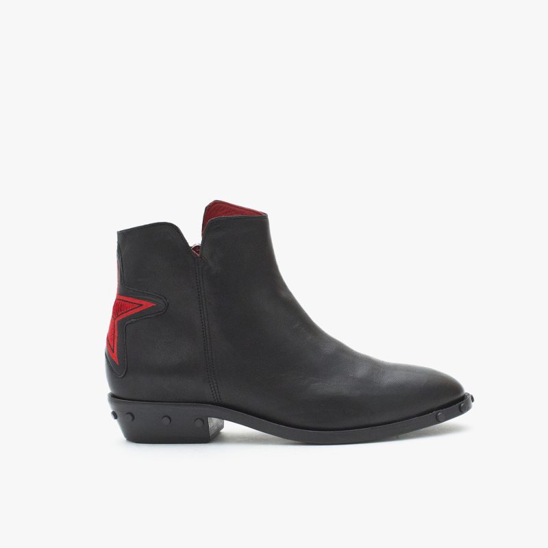 OLSEN GRASSO BLACK+RED