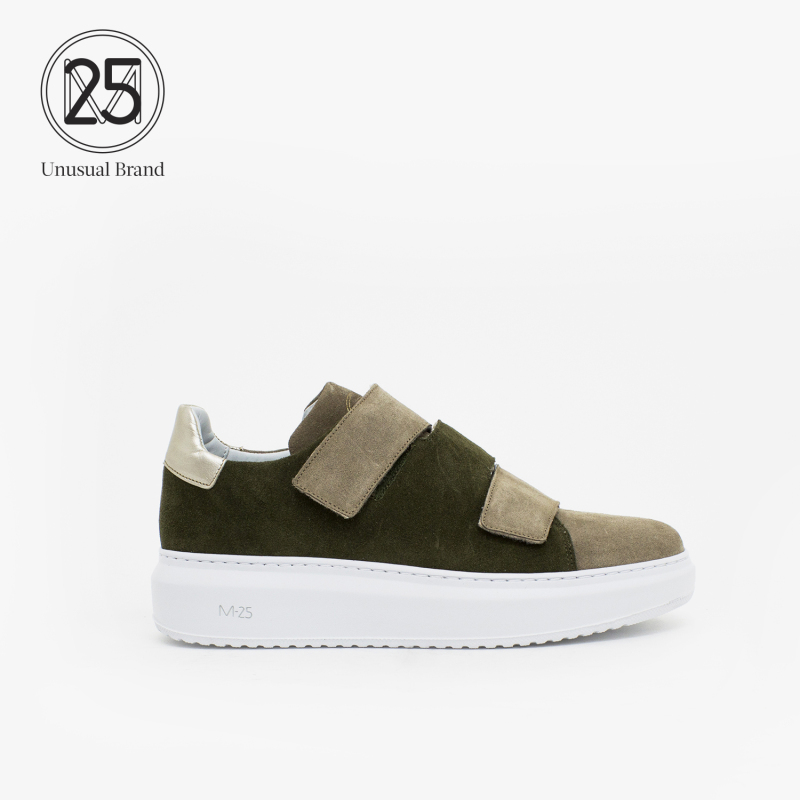SELENA SUEDE DKGREEN.356+LTBROWN+ICE
