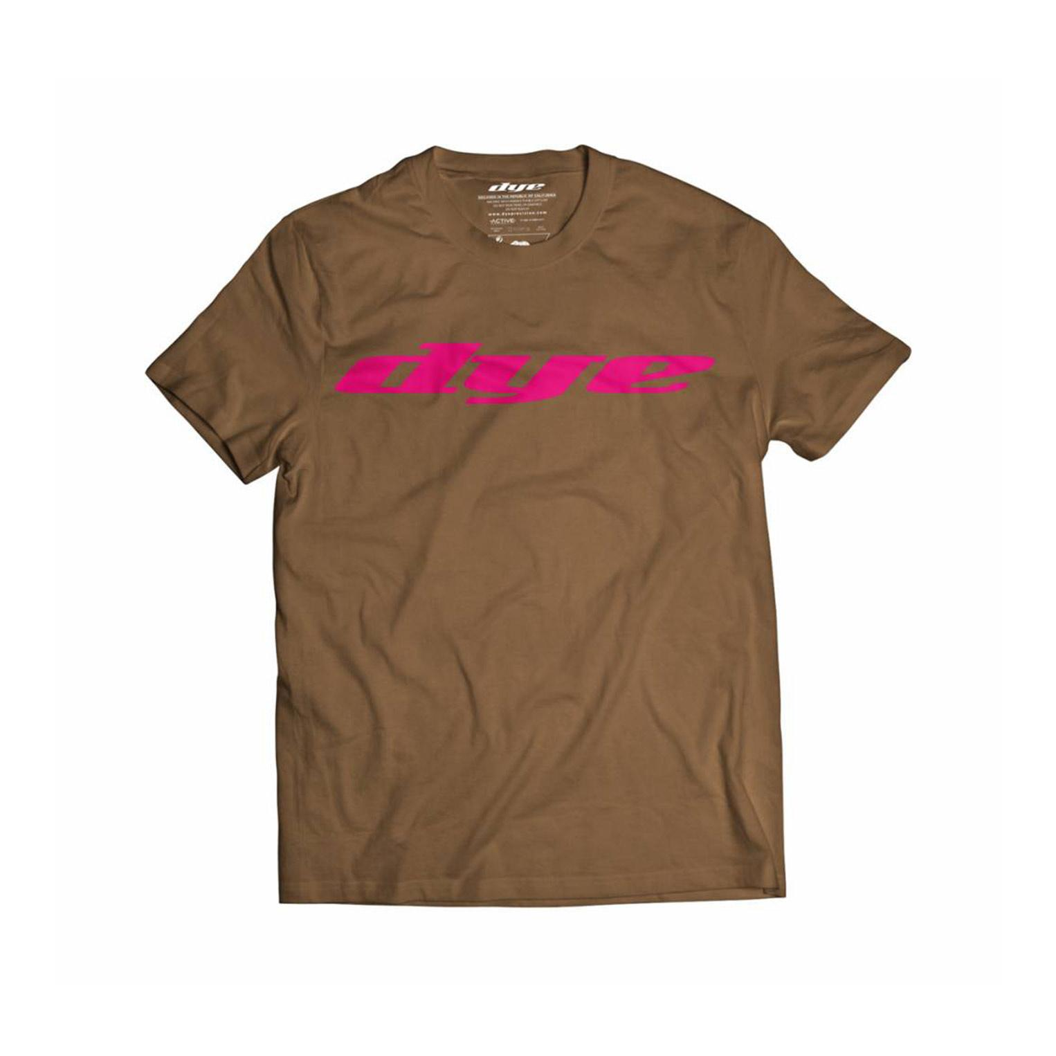 T-Shirt Dye Logo Brown/Pink