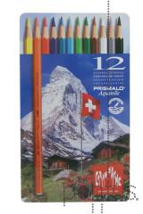 Lápis CDA Prismalo aguarelável cx. metal c/12 cor