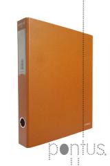 Pasta Ambar L/E arquivo din kraft laranja