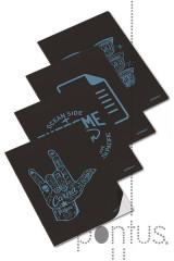 Caderno agraf. clever blue A4 40f 90g pautado