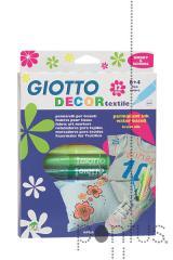 Marcador Giotto decor textil c/12 cores 494900