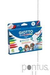 Marcador Giotto decor textil c/6 cores 494800