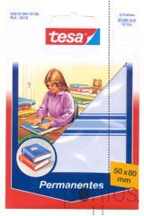 Etiquetas Tesa permanentes 5218 c/esq azul 50x80mm