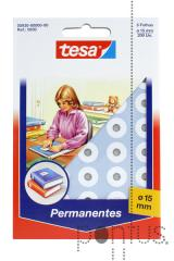 Etiquetas Tesa permanentes 5930 branco diam.15mm