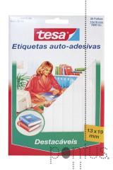 Etiquetas Tesa destacáveis 5113 branco 13x19mm