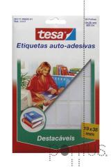 Etiquetas Tesa destacáveis 5117 branco 19x38