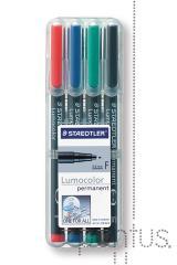 Marcador Lumocolor permanente F (4 unid.)