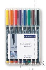 Marcador Lumocolor permanente M (8 unid.)