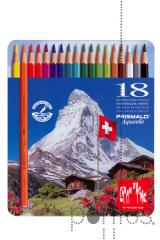 Lápis CDA Prismalo aguarelável cx. metal c/18 cor