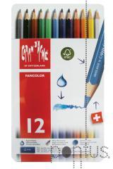 Lápis Fancolor aguarelável cx. metal c/12 cores