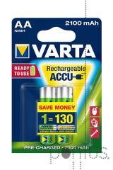 Pilha Varta recarregável HR06 2100mAh bl.2 (AA)
