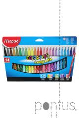 Marcador Maped lavável color´peps c/24 cores