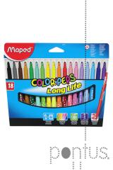 Marcador Maped lavável color´peps c/18 cores