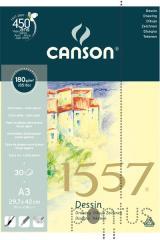 Bloco de desenho 1557 Canson A3 30f 180g