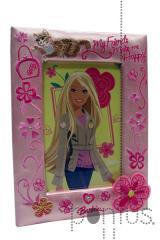 Moldura Barbie em tecido bordado ref.h967