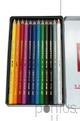 Lápis Supracolor aguarelável cx metal c/12 cores