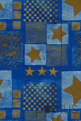 Papel 70x100cm Natal met. azul/br ref.41.41706