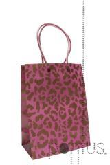 Sacos de papel selva rosa 17x9,5x22,5cm
