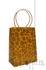 Sacos de papel selva laranja 17x9,5x22,5cm