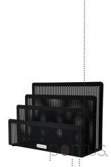 Organizador em metal perfurado preto Rolodex