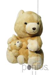 Peluche urso c/baby 44x30cm