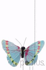 Borboleta azul/rosa cx.12 unidades
