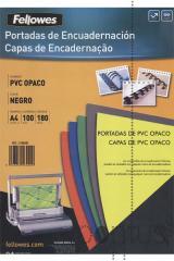 Capa enc. pvc A4 180mic. opaco preto (100 unid.)