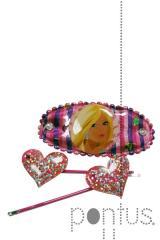 Set ganchos magic Barbie day ref.b712