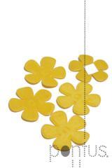 Flor 35mm feltro (36 unid.)