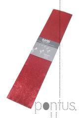 Papel crepe metalizado 2x0.5m 50g vermelho