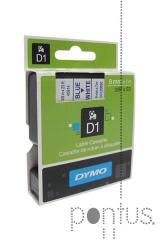 Fita Dymo D1 6mmx7m preto/branco
