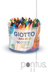 Lápis de cera Giotto maxi c/60 cores ref.5192000