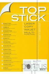 Etiquetas Top Stick A4 ink/laser 38,1x21,2mm 100f