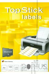 Etiquetas Top Stick A4 ink/laser 66x33,8mm 100f