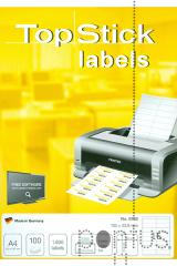 Etiquetas Top Stick A4 ink/laser 105X33,8mm 100f