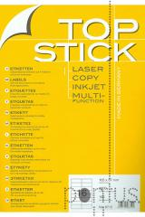 Etiquetas Top Stick A4 ink/laser 105X37mm 100f