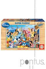 Jogo Educa puzzle madeira 100 Mundo Disney