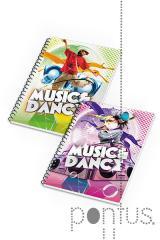Caderno espiral A5 Music & Dance 80fls quadric.