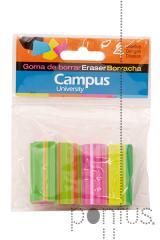 Borracha Campus em cores - bolsa c/4 unidades