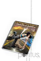 Caderno espiral A5 capa mole Music & D 80f paut.